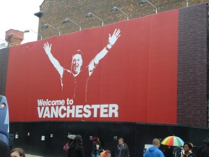 Louis van Gaal - Vanchester poster. Photo by: Mikey www.flickr.com