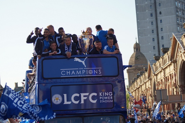 Leicester champions parade